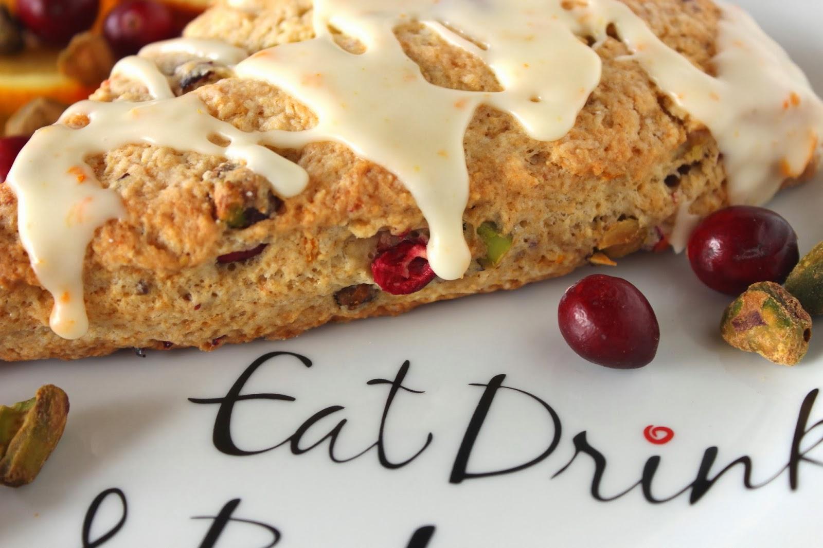Cranberry Pistachio Scones Recipe